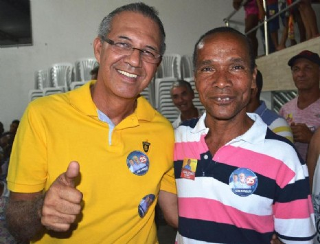 Deputado estadual Carlos Geilson e o autor do jingle, Romildo Silva.